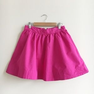 Kate Spade Coreen Sweetheart Pink Cotton Skirt